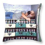 Asleep On The Job Throw Pillow