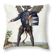 Asmodeus, King Of Demons, 18th Century Throw Pillow