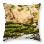 Asparagus And Stroganoff Throw Pillow