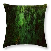 Asparagus Jungle Throw Pillow