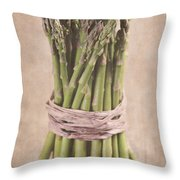 Asparagus Spears Throw Pillow
