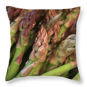 Asparagus Tips 2 Throw Pillow