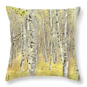 Aspen Forest 2 - Photo Painting Throw Pillow