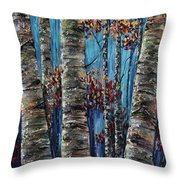 Aspen Forest In The Rocky Mountain Throw Pillow