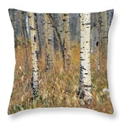 Aspen Forest, Mountain View County Throw Pillow