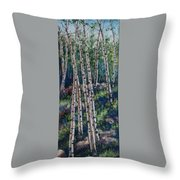 Aspen Glade Throw Pillow
