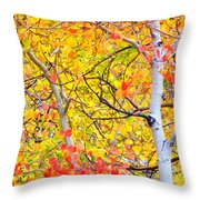 Aspen Gold And Orange Throw Pillow