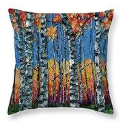 Aspen Grove By Olena Art Throw Pillow