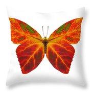 Aspen Leaf Butterfly 2 Throw Pillow
