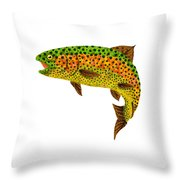 Aspen Leaf Rainbow Trout 1 Throw Pillow