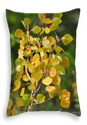 Aspen Leaves Throw Pillow