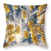 Aspen Tops Towards The Sky Vintage  Throw Pillow
