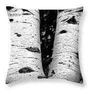Aspen Tree Art Throw Pillow