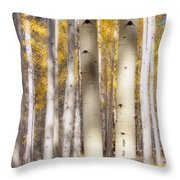 Aspen Trunks Throw Pillow