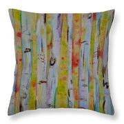 Aspens Abstract II Throw Pillow