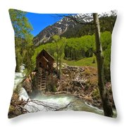 Aspens Around The Crystal Mill Throw Pillow