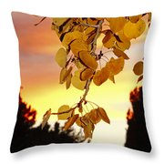 Aspens At Sunset Throw Pillow