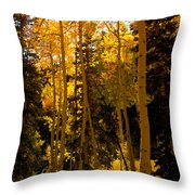 Aspens In Fall Throw Pillow