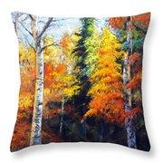 Aspens In Fall. Throw Pillow
