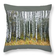 Aspens Throw Pillow