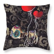 Asphyxiated Throw Pillow by  Abril Andrade Griffith