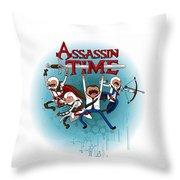 Assassintime Throw Pillow