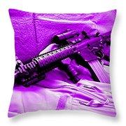 Assault Rifle Throw Pillow