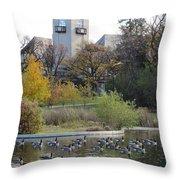 Assiniboine Park Pavilion Throw Pillow