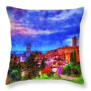 Assisi At Dusk 2 Throw Pillow