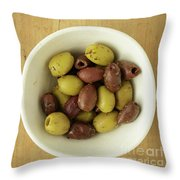 Assorted Greek Olives  Throw Pillow