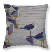 Assorted Gulls Throw Pillow