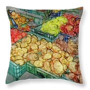 Assorted Market Fare 1 Throw Pillow