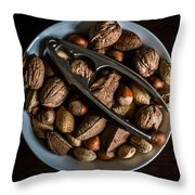 Assorted Nuts Throw Pillow