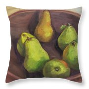 Assorted Pears Throw Pillow