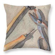Assorted Tools Throw Pillow
