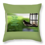 In Heaven's Eyes Throw Pillow