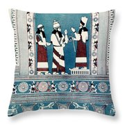 Assyrian King, C720 B.c Throw Pillow