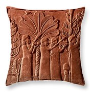 Assyrian Queen, 645 B.c Throw Pillow