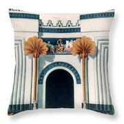 Assyrian Temple Throw Pillow