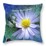 Aster ,  Greeting Card Throw Pillow