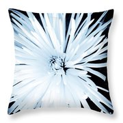 Aster In Black And White Throw Pillow