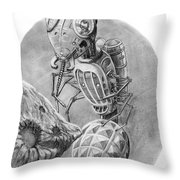 Asteroid Mining Craft Throw Pillow