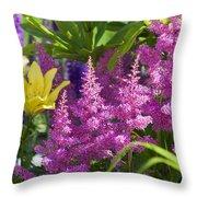 Astilbe In The Garden Throw Pillow