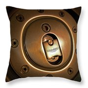 Aston Martin Fuel Filler Cap Throw Pillow