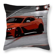 Aston Martin Vantage Gt12 Throw Pillow