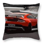 Aston Martin Vantage Gt12 - Trackday Throw Pillow