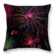 Astonishing Fireworks Throw Pillow