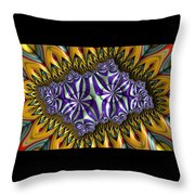 Astonishment - A Fractal Artifact Throw Pillow