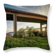 Astoria Bridge Sunrise Throw Pillow