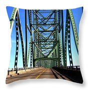 Astoria-megler Bridge Throw Pillow